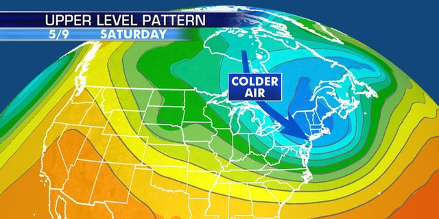 An Arctic blast is forecast to impact the Northeast for Mother's Day Weekend.