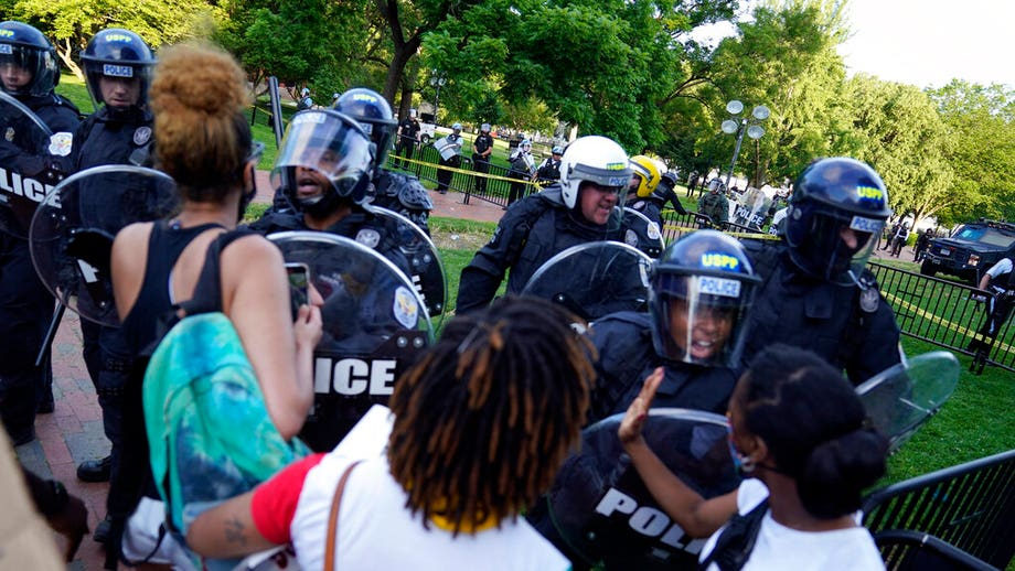 Clashes break out near White House between police, protesters as unrest extends into weekend