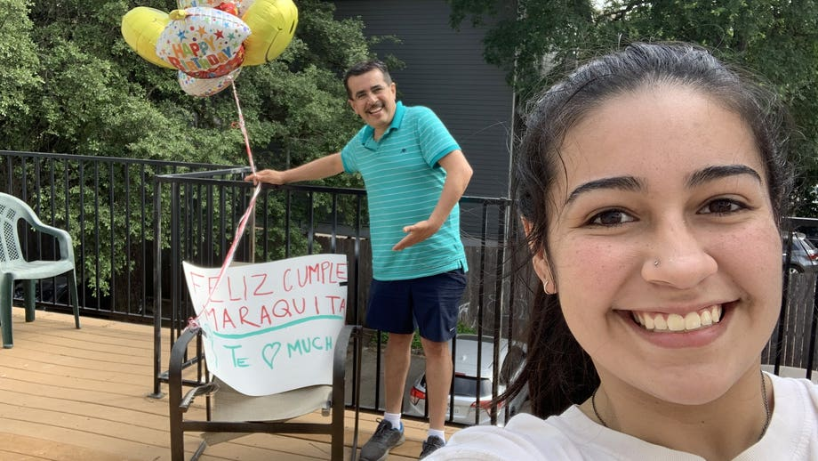 Texas dad drives more than 1,000 miles to surprise daughter with Chick-fil-A for 19th birthday