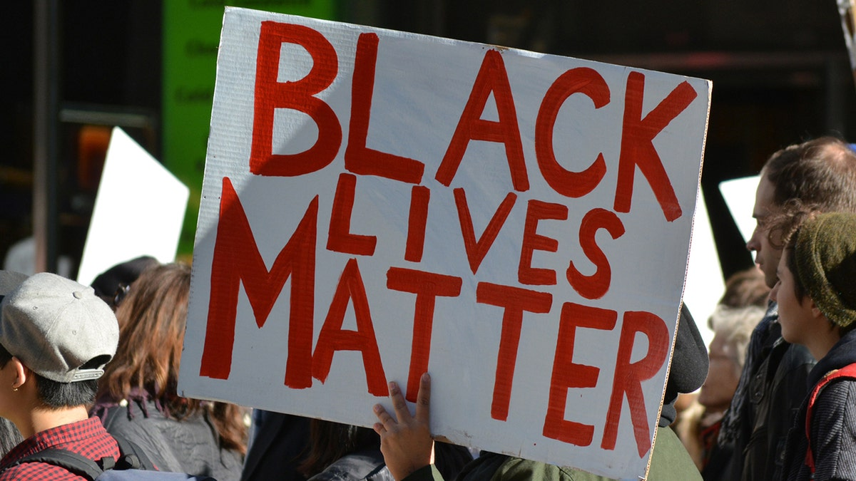 Protesters carrying BLM signs vandalize CA police station