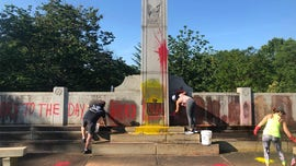 WWII monument in Charlotte defaced with hammer and sickle