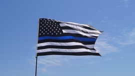 Ohio deputies raise 'Thin Blue Line' flag outside Justice Center after US flag stolen by protesters, sheriff says
