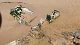 Ghostly WWII fighter plane wreck emerges from shifting sands on UK beach
