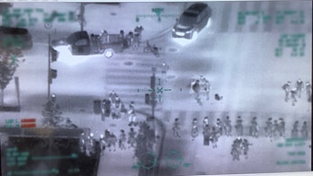 Aerial image shows police apprehending suspects after SUV plowed into cops in Buffalo