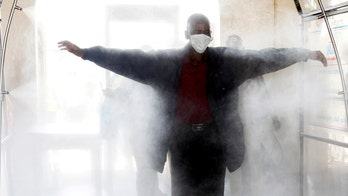 Israeli stadium deploys disinfectant tunnel in push for safer public gatherings during coronavirus pandemic