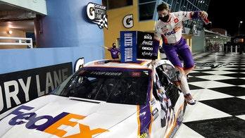 Denny Hamlin wins weather-delayed NASCAR race at Homestead-Miami Speedway