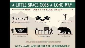 National Park Service shares creative new signs to promote social distancing
