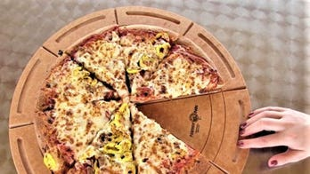Company creates 'next generation' pizza-serving plate with 'touchless border' to address coronavirus concerns
