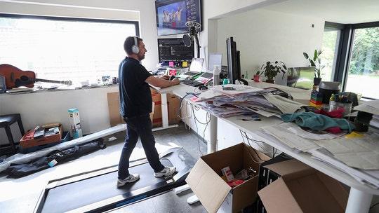 Belgian man in coronavirus lockdown says he uses treadmill desk to walk almost 1,000 miles