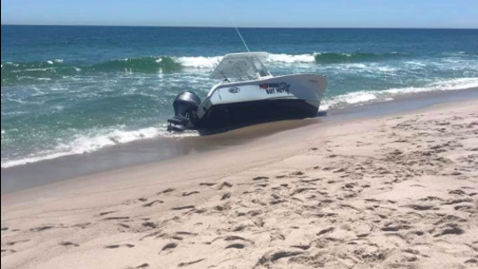 Breaching whale knocks small boat 'out of the water' off New Jersey