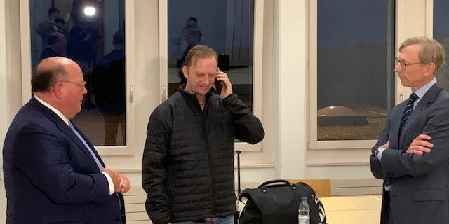 White spoke to President Trump by phone after landing.(Rich Edson/Fox News).