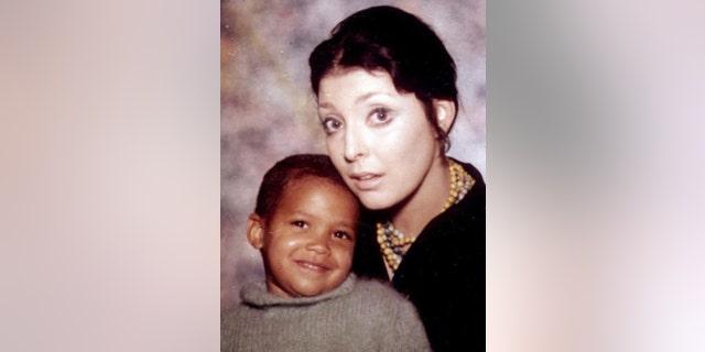 Victoria Valentino with her son.