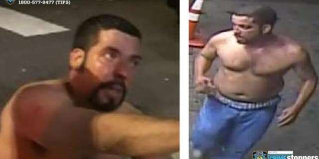 Surveillance footage showing the man wanted in connection with the death of a Queens man.