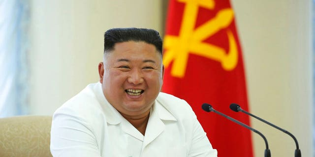 In this photo provided by the North Korean government, North Korean leader Kim Jong Un attends a meeting of the Politburo of the Central Committee of the Workers' Party of Korea in North Korea Sunday, June 7, 2020.