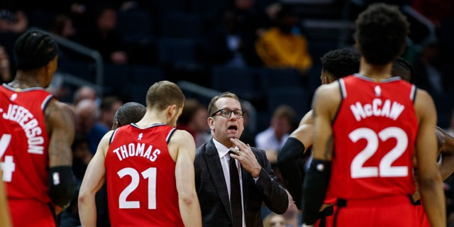The Raptors have an NBA championship to defend, a very long stay at the Disney complex awaiting them, and plenty of unanswered questions on how the restart of the season will work. As the NBA's lone Canadian team, there's an added complexity: The U.S. border. Nurse said Tuesday, June 9, 2020, that his team is still working through various scenarios for having workouts before heading to Disney World near Orlando, Florida along with 21 other teams next month for the restart of the season. (AP Photo/Nell Redmond, File)