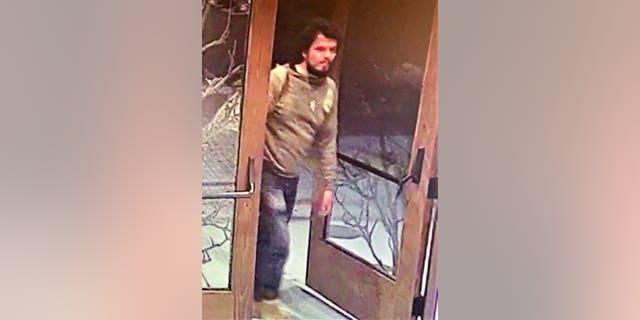 A surveillance image of Mason Lira, who was caught Thursday.