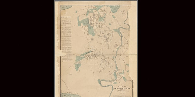 The map is believed to be from autumn 1864.