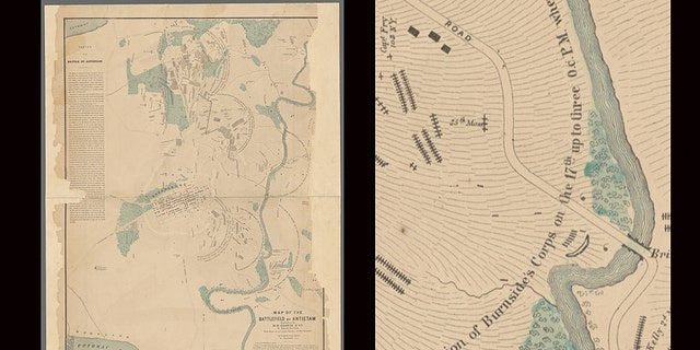 The S.G. Elliott Burial Map shows where 5,800 Americans were buried in temporary graves.