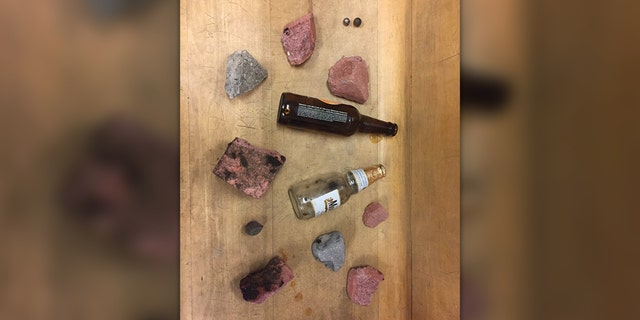 George Floyd unrest: Portland police share photos of items protesters have thrown at them