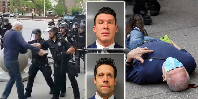 The two Buffalo officers -- Robert McCabe and Aaron Torgalski -- were suspended and have been charged with second-degree assault. They have pleaded not guilty.