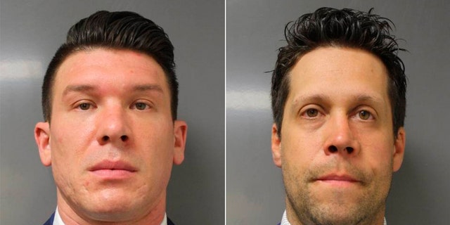 Suspended Buffalo police officers?Robert McCabe (left) and Aaron Torgalski
