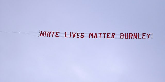 United Kingdom police investigating 'White Lives Matter' banner over stadium