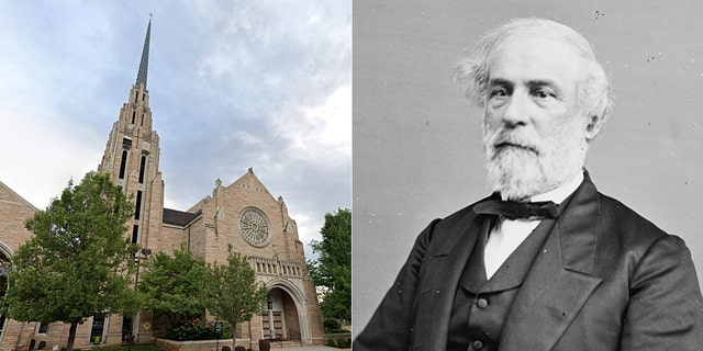 """The Cathedral of the Rockies, a United Methodist church in Boise, Idaho, apologized for participating in """"white supremacy"""" and announced it will remove Confederate General Robert E. Lee from a stained-glass window in the sanctuary."""