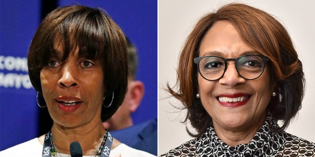 The Baltimore mayoral seat that was vacated when Catherine Pugh, left, resigned over a corruption scandal now appears likely to be filled by Sheila Dixon, right, a former mayor who has a past conviction of her own.