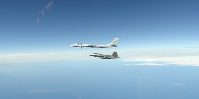 NORAD F-22 Raptors, supported by KC-135 Stratotankers and an E-3 Airborne Warning and Control System, successfully completed two intercepts of Russian bomber aircraft formations entering the Alaskan Air Defense Identification Zone last night.