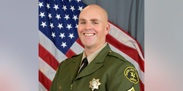 Santa Cruz Sheriff Sgt. Damon Gutzwiller was shot and killed June 2020 in Ben Lomond, an unincorporated area near Santa Cruz, Calif., when he and two other law enforcement officers were ambushed. (AP/Santa Cruz County Sheriff's Office)