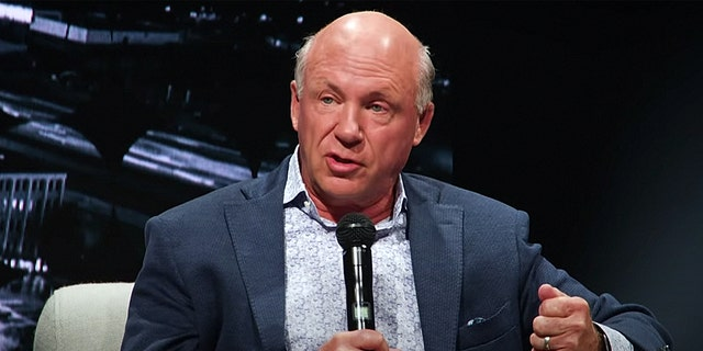 Chick-fil-A CEO Dan Cathy speaks about race in America at Passion City Church in Atlanta, June 14.