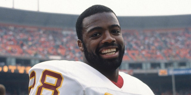 S Darrell Green #28 of the Washington Redskins smile for the camera during an NFL football game against the San Francisco 49ers November 21, 1988 at Candlestick Park in San Francisco, California. Green played for the Redskins from 1983-2002. (Photo by Focus on Sport/Getty Images)