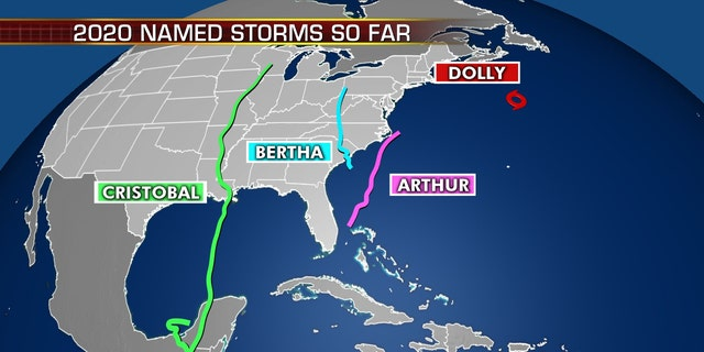 Named tropical storms so far this 2020 Atlantic hurricane season.