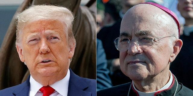 """Archbishop Carlo Maria Vigano of Rome, the former Apostolic Nuncio to the United States, threw his support behind President Trump in the """"eternal"""" fight between good and evil in an open letter, Sunday, June 7, 2020."""