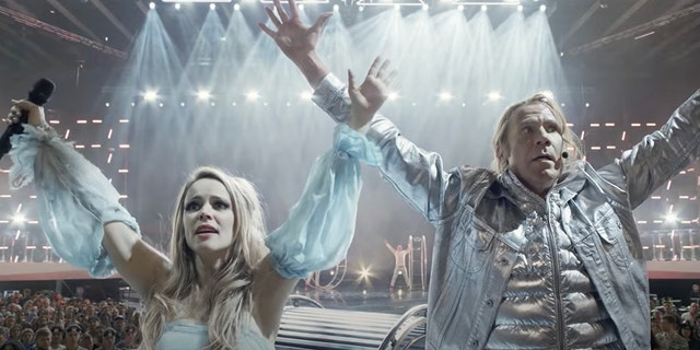 Rachel McAdams (left) and Will Ferrell in 'Eurovision Song Contest: The Story of Fire Saga.'