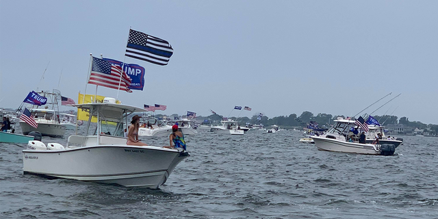The event in Long Island went ahead despite a spate of summer showers that swept through the state.