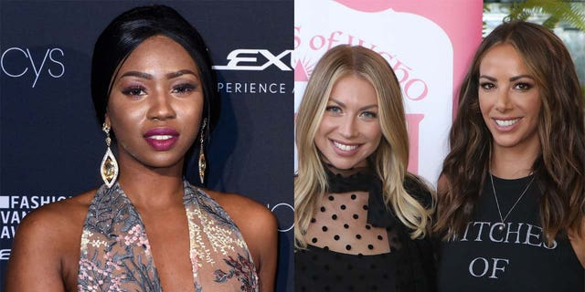 Faith Stowers (photo left), Stassi Schroeder (left, in photo right) and Kristen Doute.