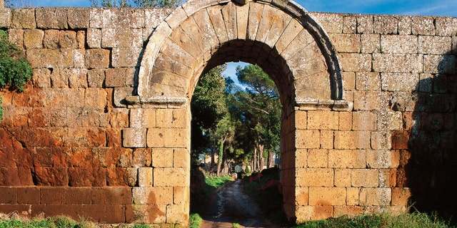 Jupiter's gate in the walls of Falerii Novi, Lazio, Italy - file photo.
