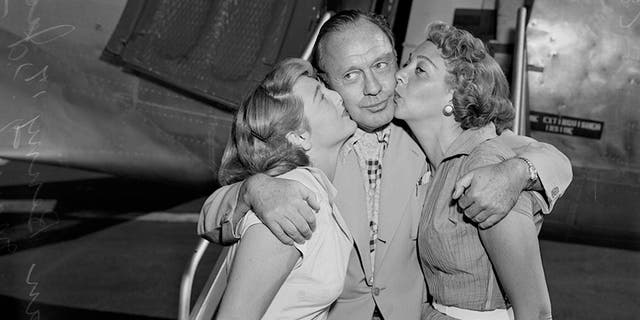 Jack Benny with 17-year-old Joan Benny and Mary Livingstone.