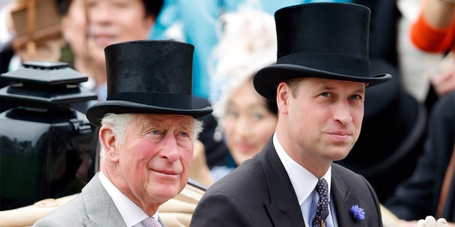Prince Charles, Prince of Wales and Prince William, Duke of Cambridge attend day one of Royal Ascot at Ascot Racecourse on June 18, 2019, in Ascot, England.