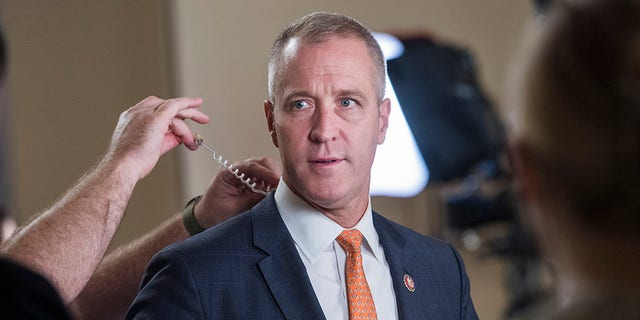 Rep. Sean Patrick Maloney, D-N.Y., prepares for an interview during the last House votes of the week in the Capitol on Friday, September 27, 2019. (Photo By Tom Williams/CQ-Roll Call, Inc via Getty Images)