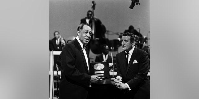 Duke Ellington with Tony Bennett.
