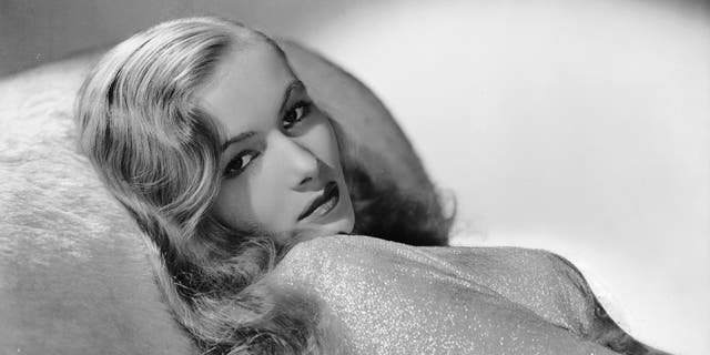 American actress Veronica Lake (1919 - 1973) in costume for the film noir 'This Gun For Hire.'