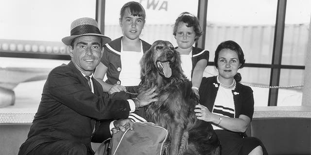Rod Serling and his family, circa 1962.