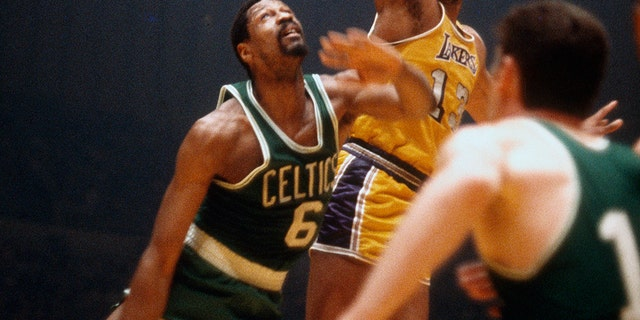 Bill Russell, the Boston Celtics all-time great, comes in at No. 10. (Photo by Focus on Sport/Getty Images)