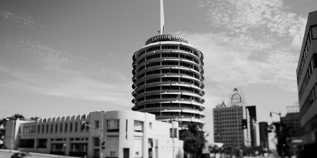 Capitol Records building in Hollywood, Calif.