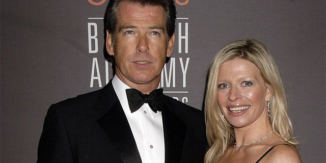 Actor Pierce Brosnan with his daughter Charlotte Brosnan at The Orange British Academy Film Awards (BAFTAs) on February 19, 2006, in London, England.