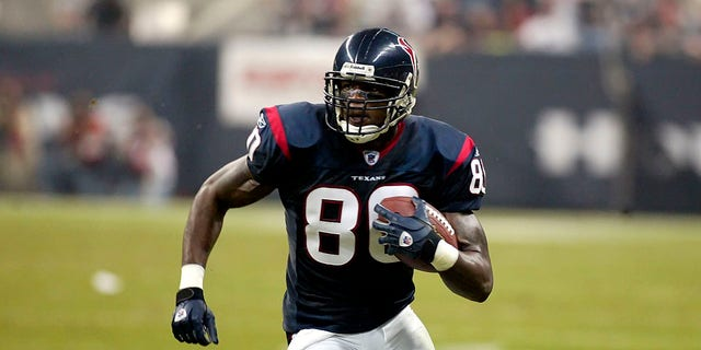 Houston Texans wide receiver Andre Johnson in the game against the Green Bay Packers at Reliant Stadium in Houston Texas on November 21, 2004. The Packers defeated the Texans 16-13. (Photo by Jim Redman/Icon SMI/Icon Sport Media via Getty Images)