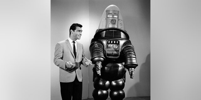 Rod Serling with Robby the Robot.
