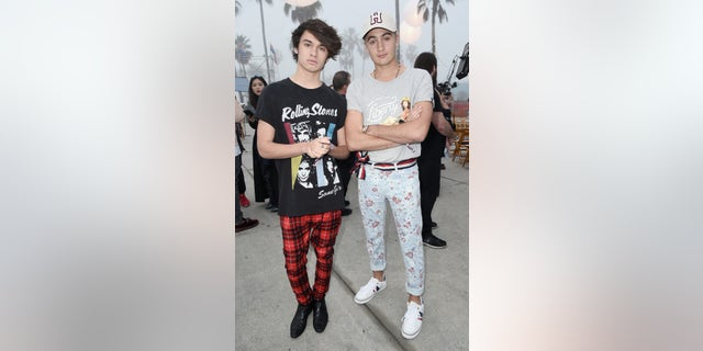 Brandon Lee and Dylan Lee attend the Tommy Hilfiger Spring 2017 Women's Runway Show - Front Row at Windward Plaza on Feb. 8, 2017, in Venice, Calif. (Photo by David Crotty/Patrick McMullan via Getty Images)
